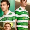 Celtic FC 2016 2017 New Balance Green and White Hooped Football Kit, Soccer Jersey, Shirt