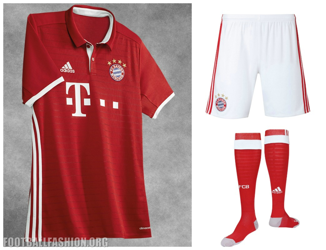 ebccde70c FC Bayern München 2016 17 adidas Home Kit – FOOTBALL FASHION.ORG
