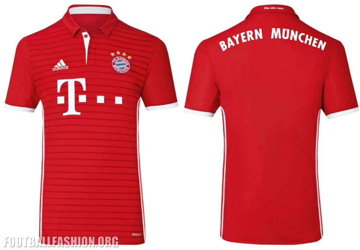 sale retailer 09356 84c9b FC Bayern München 2016/17 adidas Home Kit - FOOTBALL FASHION.ORG
