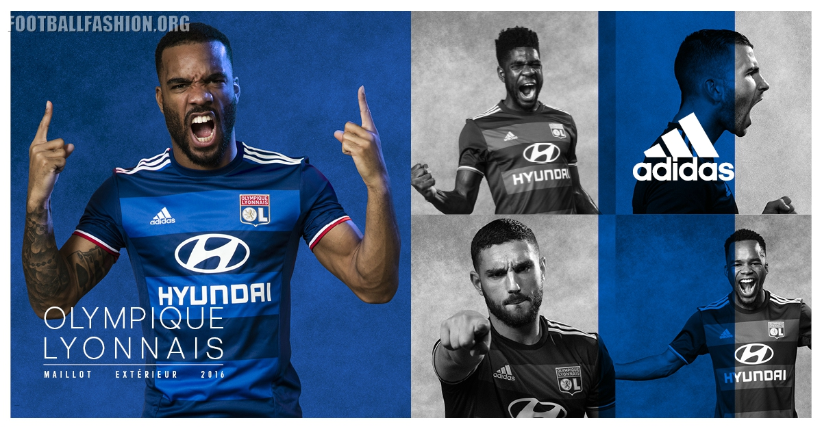 fd815626 Olympique Lyon 2016 2017 adidas Home and Away Football Kit, Shirt, Jersey,  Maillot