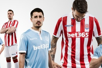 Stoke City 2016 2017 Macron Home and Away Football Kit, Soccer Jersey, Shirt