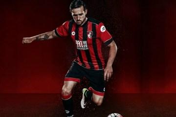 AFC Bournemouth 2016 2017 JD Sports Home Football Kit, Soccer Jersey, Shirt