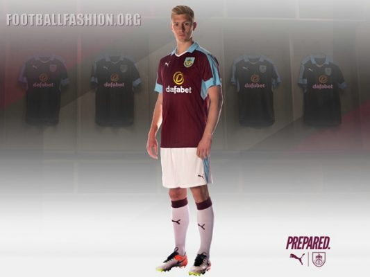 Burnley Football Club 2016 2017 PUMA Home Football Kit, Shirt, Jersey