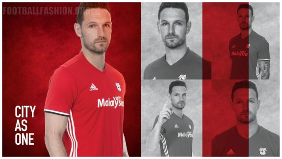Cardiff City 2016 2017 adidas Home and Away Football Kit, Soccer Jersey, Shirt