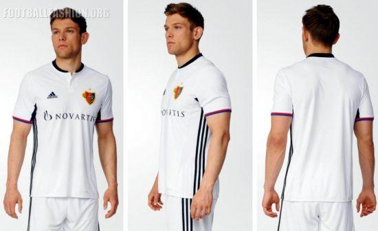 FC Basel 2016 2017 adidas Away Football Kit, Soccer Jersey, Shirt, Trikot