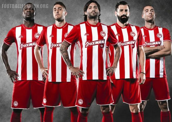 Olympiacos FC 2016 2017 adidas Home Football Kit, Soccer Jersey, Shirt