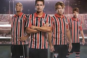 São Paulo FC 2016 2017 Under Armour Away Football Kit, Soccer Jersey, Shirt, Camisa