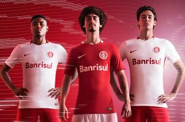 SC Internacional 2016 2017 Nike Home and Away Football Kit, Soccer Jersey, Shirt, Camisa