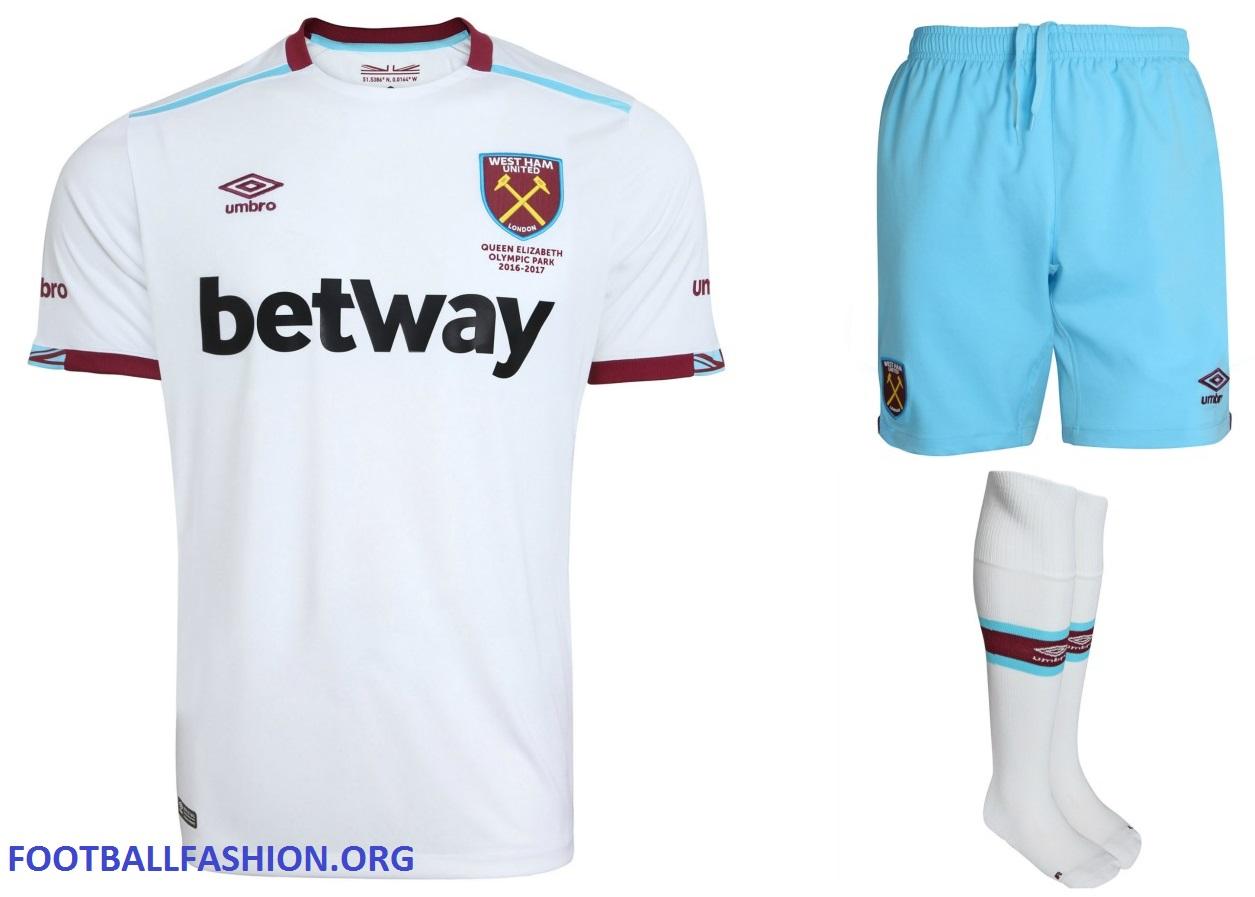 West Ham United 2016/17 Umbro Away Kit - FOOTBALL FASHION.ORG