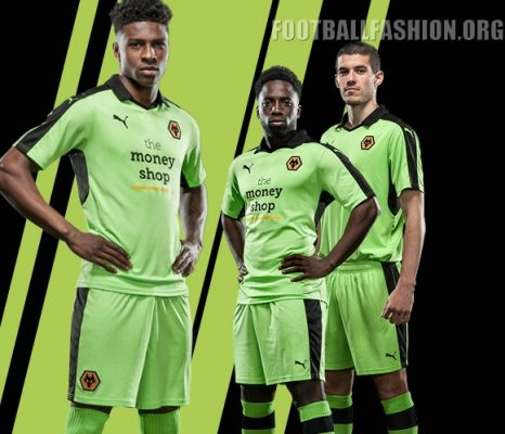 Wolverhampton Wanderers FC 2016 2017 PUMA Away Football Kit, Shirt, Jersey