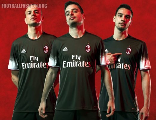 AC Milan 2016 2017 Green adidas Third Football Kit, Soccer Jersey, Shirt, Gara, Maglia, Camiseta, Maillot