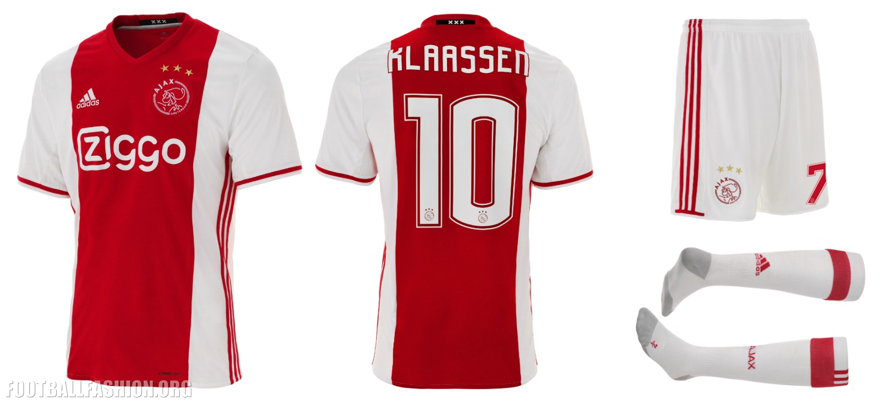 AFC Ajax 2016/17 adidas Home Kit – FOOTBALL FASHION.ORG