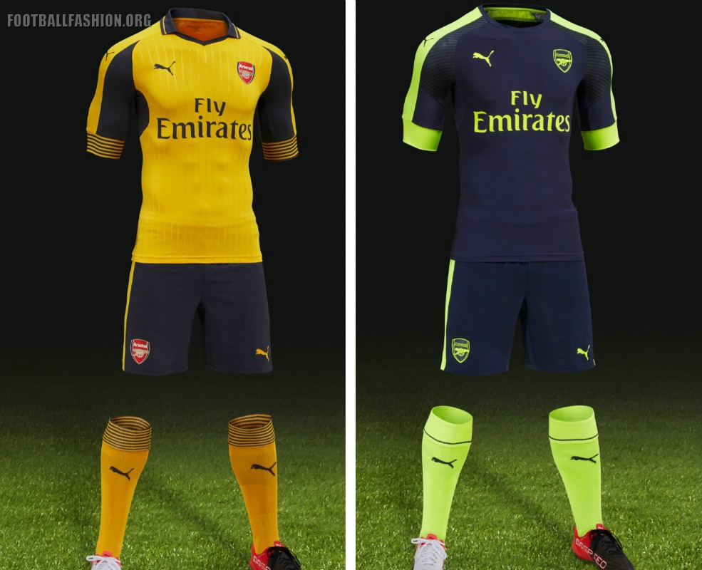 big sale f4fad 5f125 Arsenal Unveil 2016/17 PUMA Away and Third Kits During USA ...
