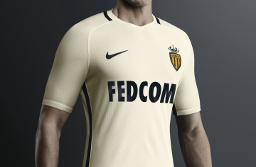 AS Monaco 2016 2017 Nike Away Football Kit, Soccer Jersey, Shirt, Maillot