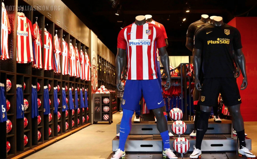 Atl tico de madrid 2016 17 nike home and away kits - The body shop madrid ...