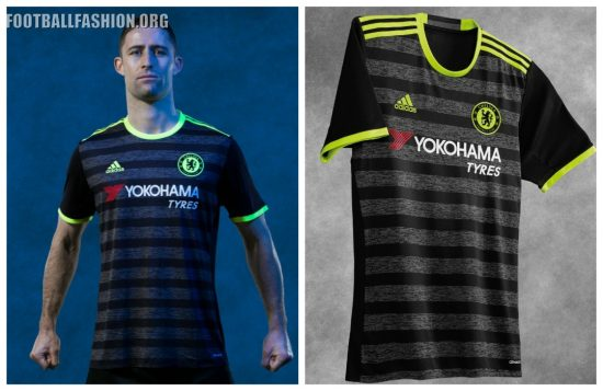 Chelsea Football Club 2016/17 adidas Away Kit, Soccer Jersey, Shirt, Camiseta, Camisa, Trikot, Maillot