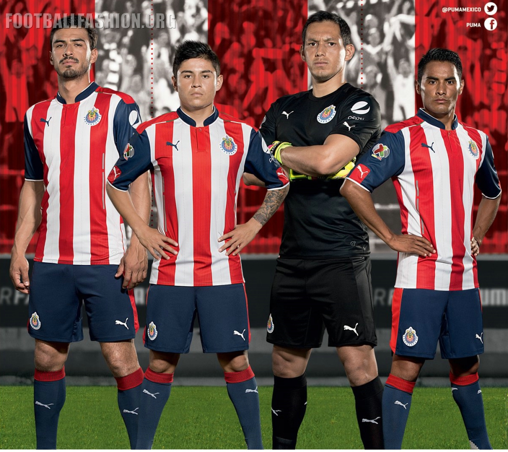 chivas de guadalajara 201617 puma home and away jerseys