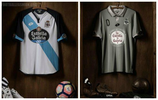 Deportivo de La Coruña 2016 2017 Lotto Home, Away and Third Football Kit, Soccer Jersey, Shirt, Camiseta de Futbol, Equipacion