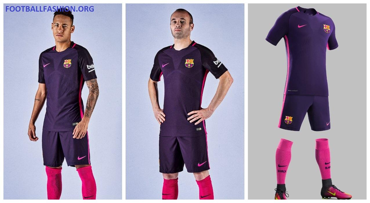 cheap for discount 71c8e 17d2d FC Barcelona 2016/17 Nike Away Kit - FOOTBALL FASHION.ORG