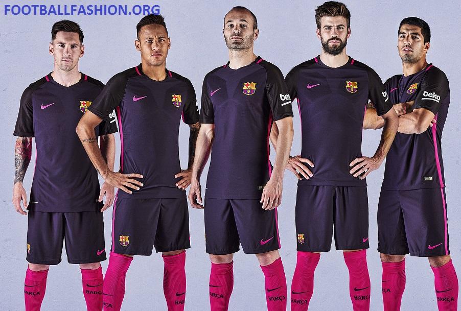 FC Barcelona 2016 17 Nike Away Kit – FOOTBALL FASHION.ORG 96a2e01a8089a