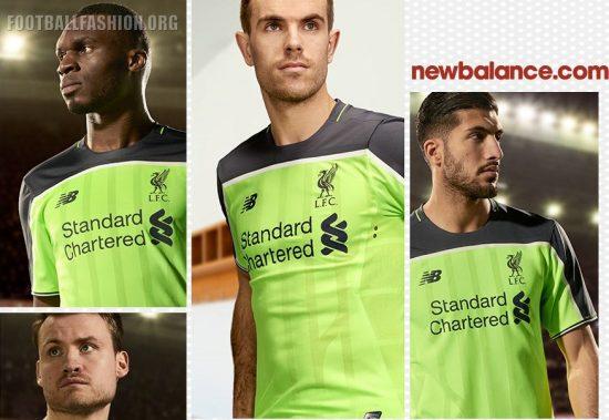 Liverpool FC 2016 2017 New Balance Yellow Third Football Kit, Soccer Jersey, Shirt, Maillot, Camiseta, Camisa, Trikot