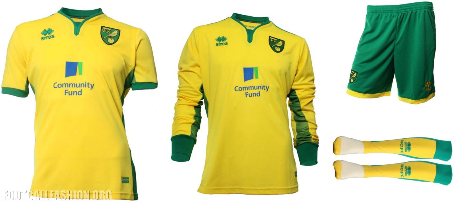 Norwich City FC 2016 17 Errea Home Kit – FOOTBALL FASHION.ORG 9efe47af1