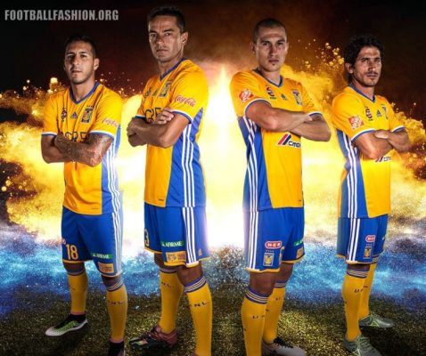 Tigres UANL 2016 2017 adidas Home and Away Football Kit, Soccer Jersey, Shirt, Equipacion, Camiseta, Playera, Uniforme