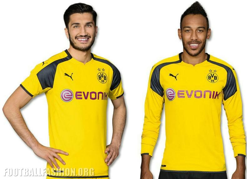 0dc67b937 Borussia Dortmund 2016 2017 UEFA Champions League Home Football Kit, Soccer  Jersey, Shirt,