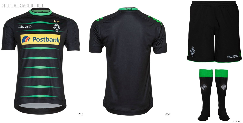 98184cb6c6 Borussia Mönchengladbach 2016 2017 Kappa Away and Third Football Kit