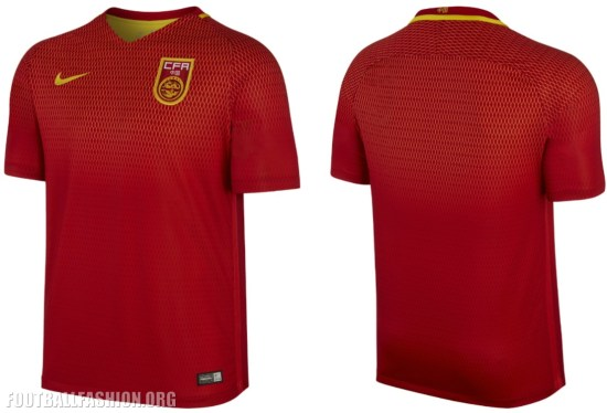 China 2016 2017 Nike Home and Away Football Kit, Soccer Jersey, Shirt