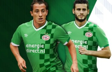 PSV Eindhoven 2016 2017 Umbro Green Third Football Kit, Soccer Jersey, Shirt, Tenue