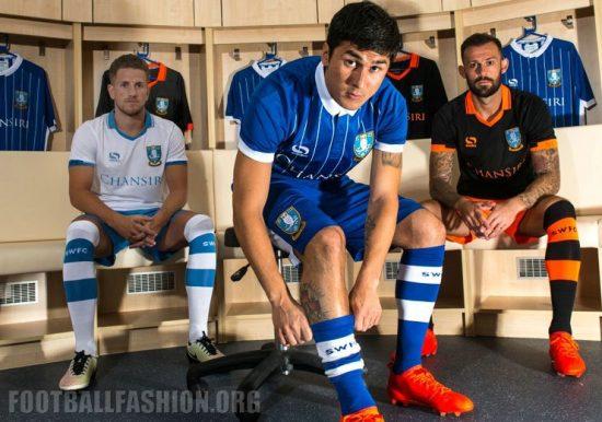 Sheffield Wednesday FC 2016 2017 Sondico Home, Away and Third Football Kit, Soccer Jersey, Shirt