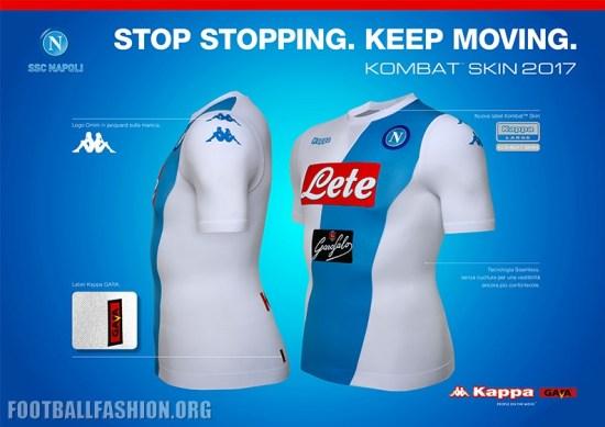 SSC Napoli 2016 2017 Kappa Away Football Kit, Soccer Jersey, Shirt, Gara, Maglia, Camisa, Camiseta, Equipacion
