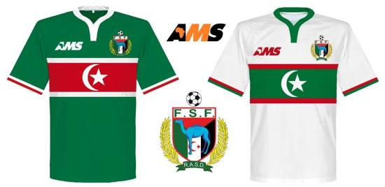 Western Sahara 2016/17 AMS Home and Away Kits