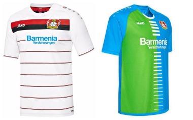 Bayer 04 Leverkusen 2016/17 Jako Third and Fourth Kits - FOOTBALL ...