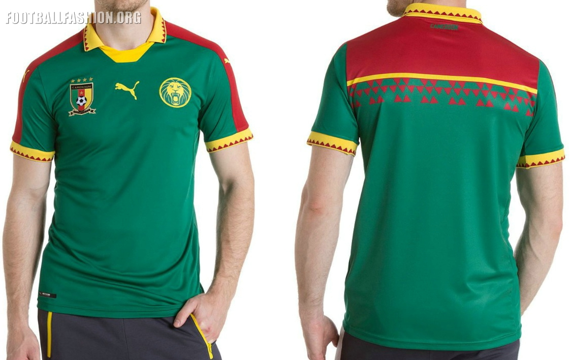 e7d69a2be6d Cameroon 2017 Africa Cup of Nations PUMA Home Kit - FOOTBALL FASHION.ORG