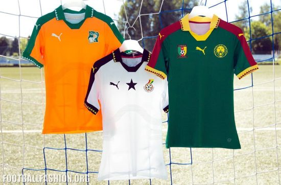 Ivory Coast 2016 Africa Cup of Nations 2017 PUMA Home Football Kit, Shirt, Soccer Jersey, Maillot Côte d'Ivoire