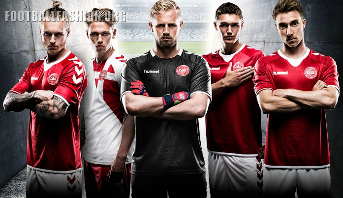 buy popular 23431 18a58 Denmark 2016/17 hummel Home and Away Kits - FOOTBALL FASHION.ORG