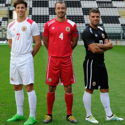 Gibraltar 2016 2017 Admiral Home, Away and Third Football Kit, Soccer Jersey, Shirt