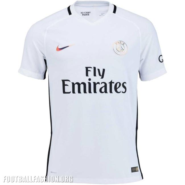 6203a416509 Paris Saint-Germain's 2016/17 new luminous all-white third kit pays tribute  to Paris' reputation as the City of Light.