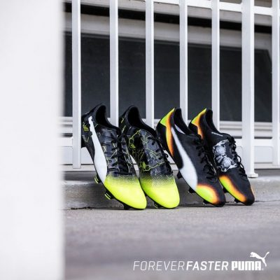 PUMA evoPOWER 1.3 and evoSPEED SL II Graphic Editions Soccer Boots, Football Shoes