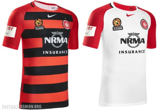 Western Sydney Wanderers 2016 2017 Nike Home and Away Soccer Jersey, Shirt, Kit