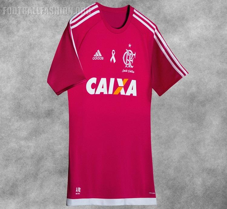 "1228d45a2b CR Flamengo 2016 adidas ""Outubro Rosa"" Jersey – FOOTBALL FASHION.ORG"