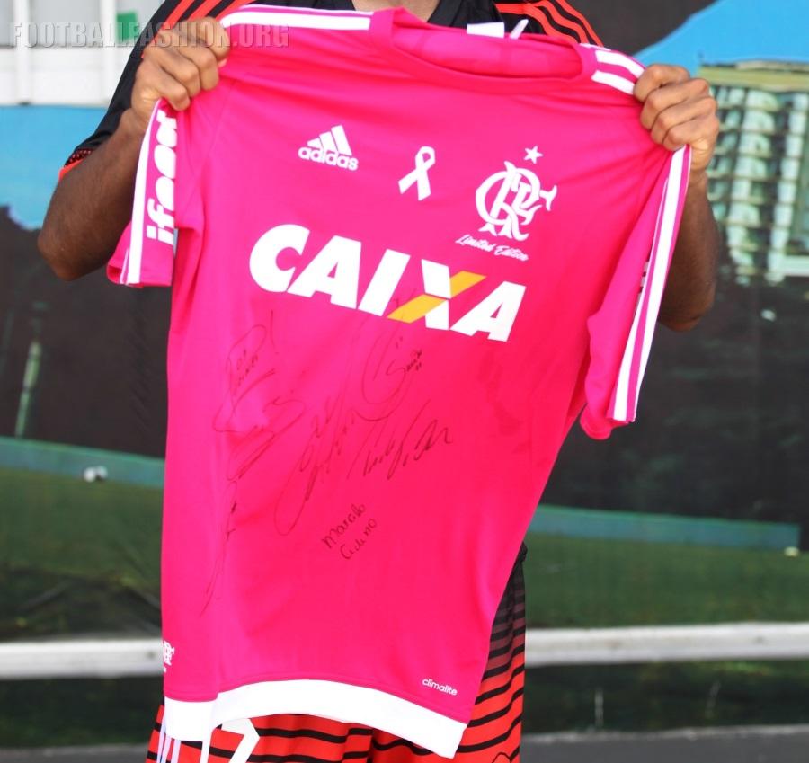 6232a63f18 CR Flamengo 2016 adidas Outubro Rosa Breast Cancer Awareness Soccer Jersey