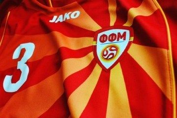 Macedonia 2016 2017 Jako Home and Away Football Kit, Soccer Jersey, Shirt