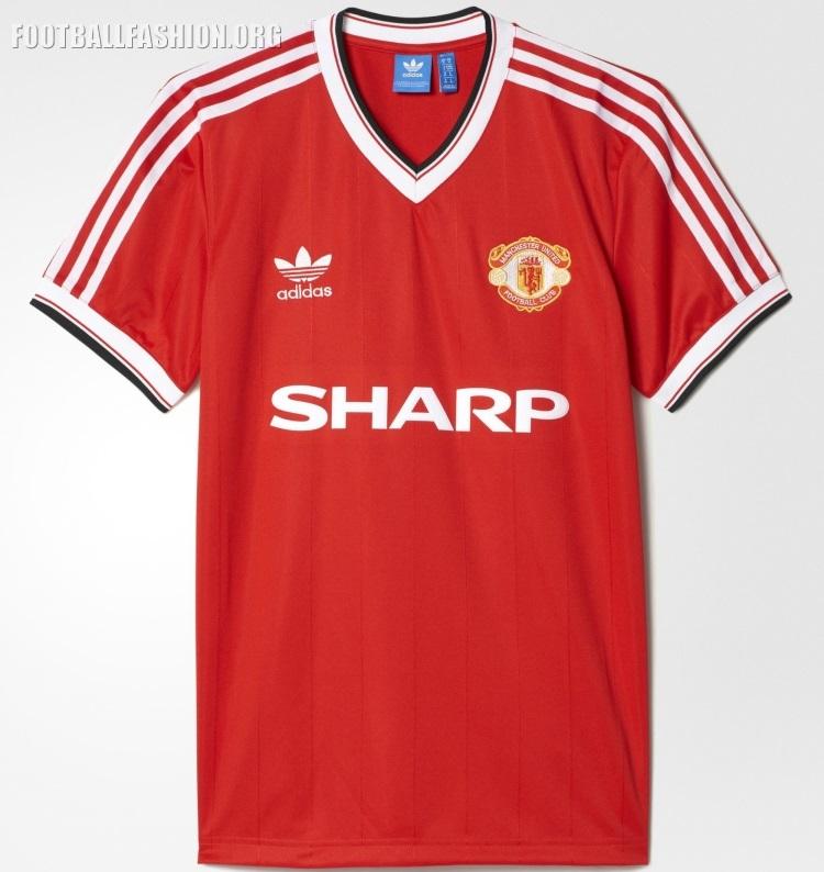 aa70e712e7f Reissue  Manchester United 1982 84 adidas Originals Home Soccer Jersey