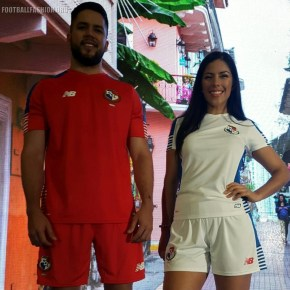 Panama 2018 World Cup Qualifying New Balance Football Kit, Soccer Jersey, Shirt, Camiseta de Futbol 2016 2017