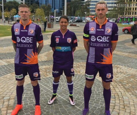 Perth Glory 2016 2017 Macron Home, Away and Heritage Soccer Jersey, Football Kit, Shirt