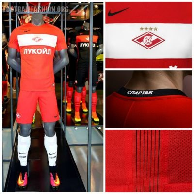 Spartak Moscow 2016 2017 Nike Home and Away Football Kit, Soccer Shirt, Jersey