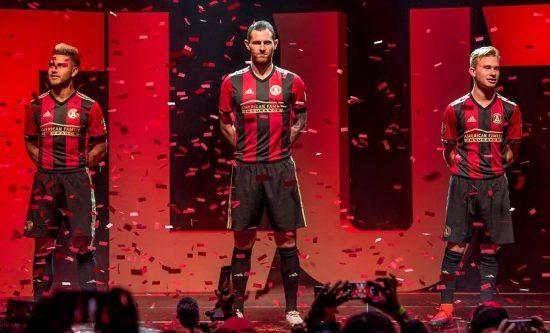 Atlanta United Football Club 2017 2018 adidas Home Soccer Jersey, Shirt, Kit, Camiseta de Futbol, Equipacion